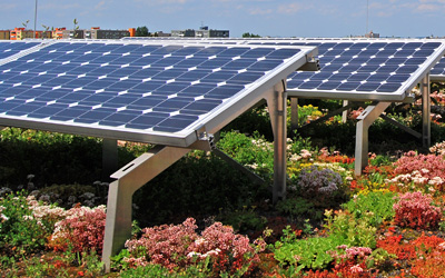 Green Roofs And Solar Energy Zinco Green Roof Systems Uk