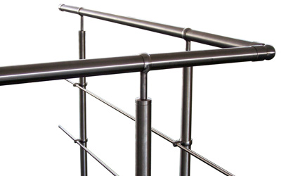 Balustrade railing made of stainless steel