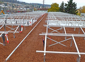 Solar Base Frames and substrate on a roof